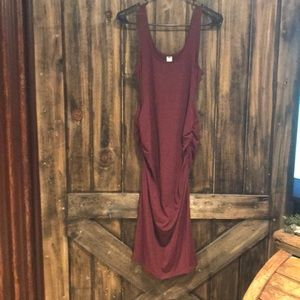 Old Navy Maroon Maternity Dress Size Small